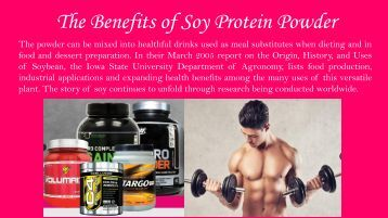 The Benefits of Soy Protein Powder