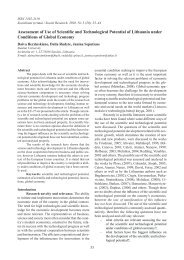 Assessment of Use of Scientific and Technological Potential of ...
