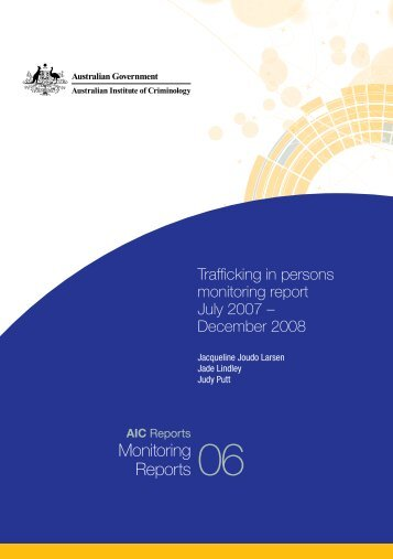 Trafficking in persons monitoring report July 2007 – December 2008