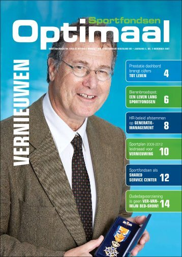 Uitgave november 2007 - Thema: Vernieuwen - Sportfondsen