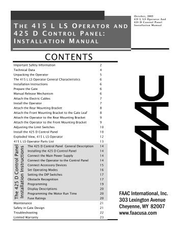 faac 415 manual fast access security corp?quality=85 faac 400 swing gate operator parts diagram fast access faac 844 wiring diagram at soozxer.org