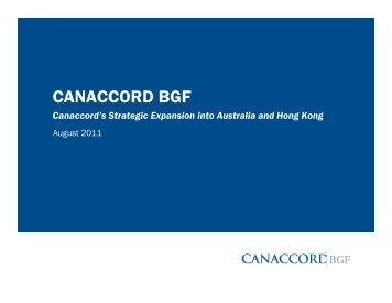 Investor Presentation - Canaccord Financial