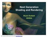 Next Generation Shading and Rendering - NVIDIA Developer Zone