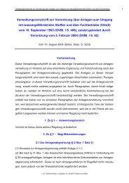 Verwaltungsvorschrift zur Verordnung über Anlagen zum Umgang ...