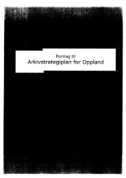 Forslag til arkivstrategiplan for Oppland - Fylkesarkivet