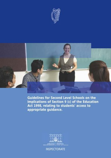 Guidelines for Second Level Schools on the Implications of Section ...
