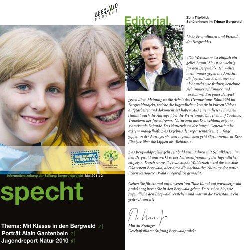 Specht 2011/2 Schulen - Bergwaldprojekt