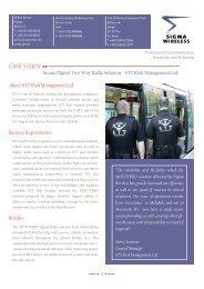 CASE STUDY - Sigma Wireless