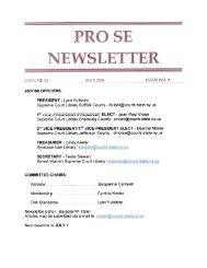 PRO SE NEWSLETTER - Criminal Law Library Blog