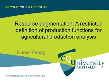 Resource augmentation: A restricted definition of production ...