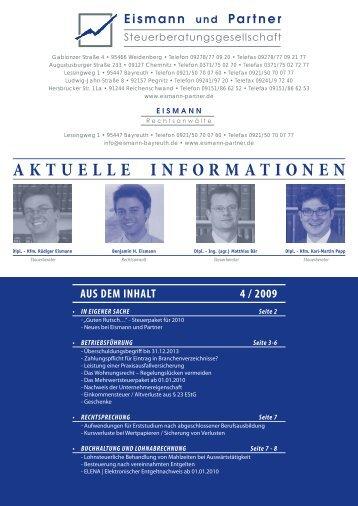 Aktuellen Informationen - EISMANN Rechtsanwälte