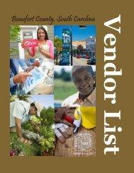 Beaufort County, South Carolina Vendor List