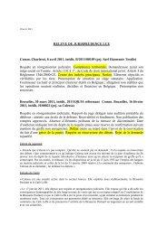 jurisprudence au 20 avril 2011 - Juridat