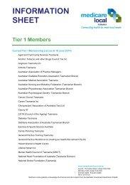 tier 1 - Tasmania Medicare Local