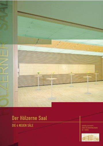 Der Hölzerne Saal - Gesellschaft der Musikfreunde in Wien