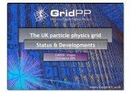 The UK particle physics grid Status & Developments - GridPP