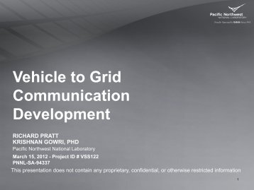 Vehicle to Grid Communications Field Testing