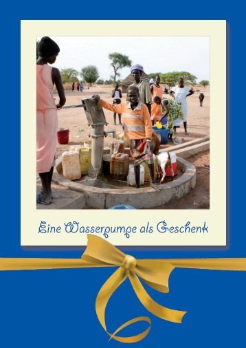 Eine Wasserpumpe als Geschenk - Tierärzte ohne Grenzen eV