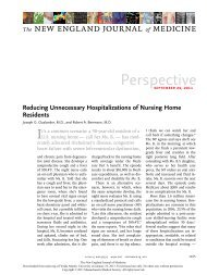 Reducing Unnecessary Hospitalizations of Nursing Home Residents