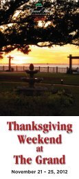 Thanksgiving Activity Guide - Historic Hotels of America