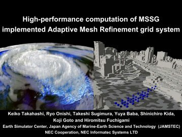 High-performance computation of MSSG implemented Adaptive ...