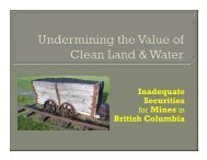 Undermining the Value of Clean Land and Water