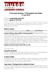 Communiqué de presse nuit des musées 2010 - musée du ...
