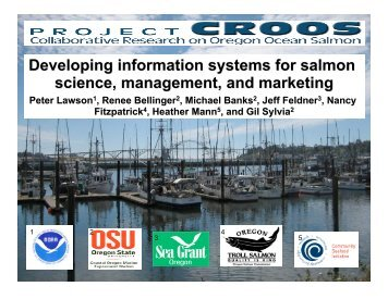 Developing Information Systems for Salmon Science, Management ...