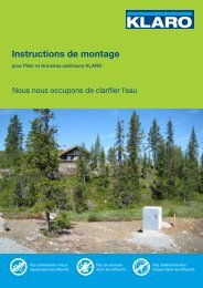 Instructions de montage - KLARO GmbH