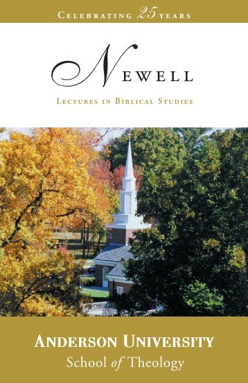 25th Anniversary Booklet [PDF] - Anderson University