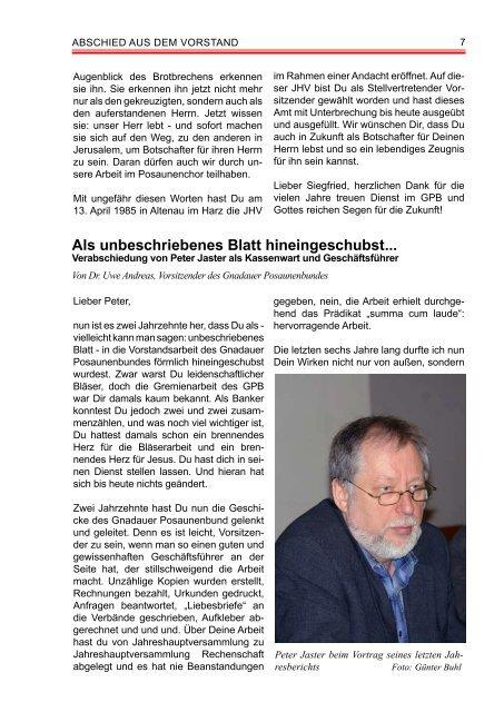Peter Jaster und Siegfried Wahls - Gnadauer Posaunenbund