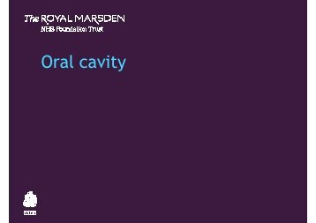 Oral cavity - The Royal Marsden