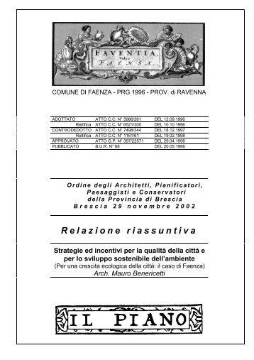 Relazione riassuntiva - Ordine degli Architetti, Pianificatori ...