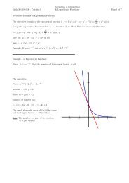 Exponential and Logarithm Functions Teaching Notes This
