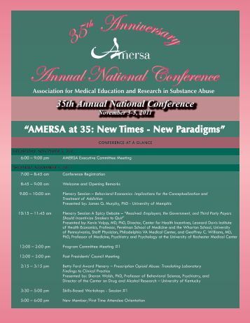 35 Annual National Conference - AMERSA