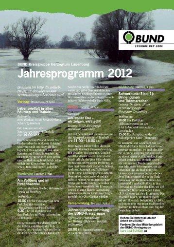 Jahresprogramm 2012 - BUND Kreisgruppe Herzogtum Lauenburg