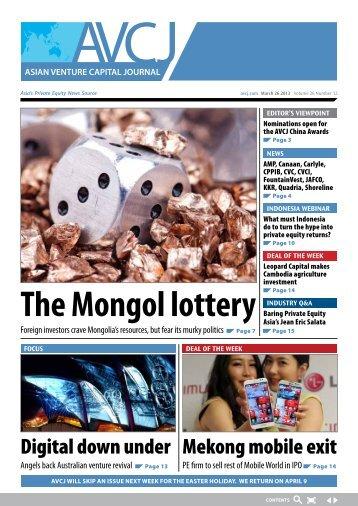 The Mongol lottery - AVCJ