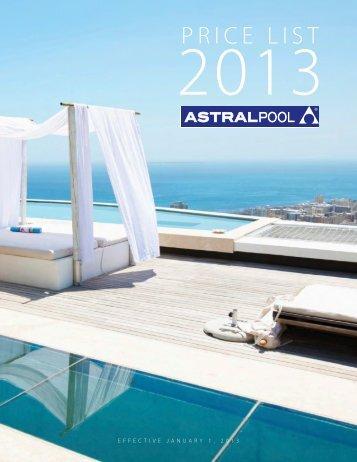 AstralPool 2013 Price List - Astral Pool USA