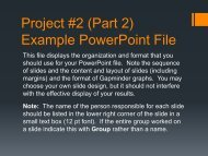 Project #2 (Part 2) Example PowerPoint File