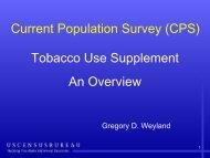 Greg Weyland's presentation - Applied Research Program