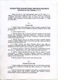 JEDNACÍ Řáo oozoečí RADY ARCHEDLOGICKÉHÚ USTAVU av ...
