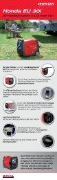 Stromerzeuger ''Honda EU 30i'