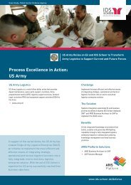 Process Excellence in Action: US Army