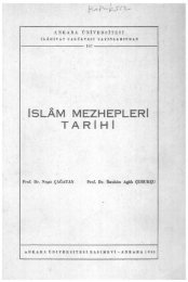 İSLAM MEZHEPLERİ TARIHI