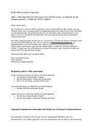 Brief VNG en korte impressie VNG / VBG bijeenkomst ... - PON