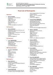 Final List of Participants - (SES) de Telecom ParisTech - Télécom ...