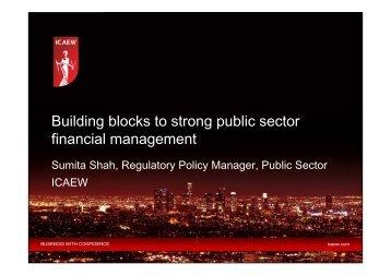 Building Blocks to Better Public Sector Financial Management