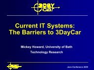 Current IT Systems: The Barriers to 3DayCar