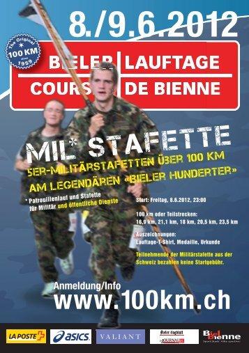 * Patrouillenlauf und Stafette für Militär und öffentliche Dienste