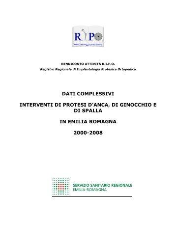 Report annuale 2008 Regione Emilia - RIPO - Cineca